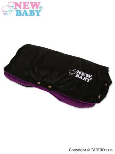 Fialovo-černý rukávník na kočárek Classic Fleece black/violet