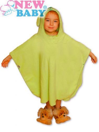 Dětské froté pončo Zelené