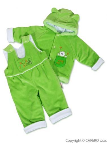 Zelená kojenecká zimní souprava vel. 62 medvídek