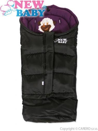 Černo-fialový zimní fusák New Baby Bear