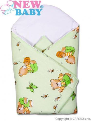 Dětská zavinovačka New Baby Zelená medvídci