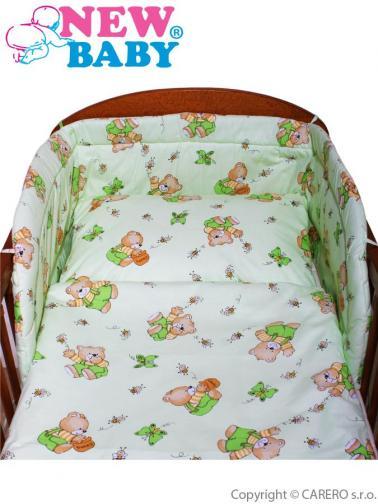 3-dílné ložní povlečení New Baby 100/135 cm Zelené medvídci