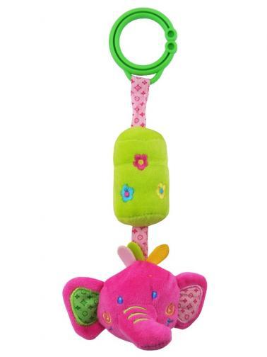 Dětská plyšová hračka s rolničkou Baby Mix slůne Dle obrázku
