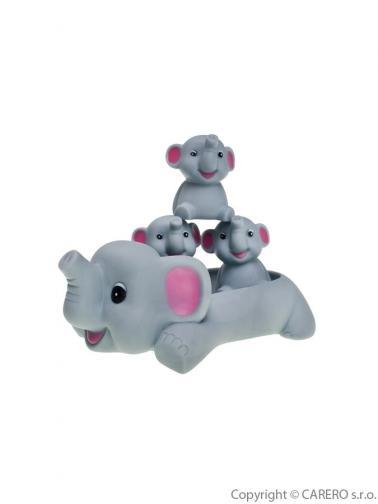 Hračka do vody Bayo sloníci Šedá