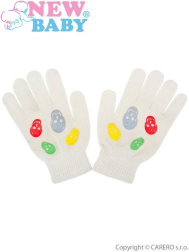 Dětské zimní rukavičky New Baby Girl cappuccino Cappuccino 122 (6-7 let)