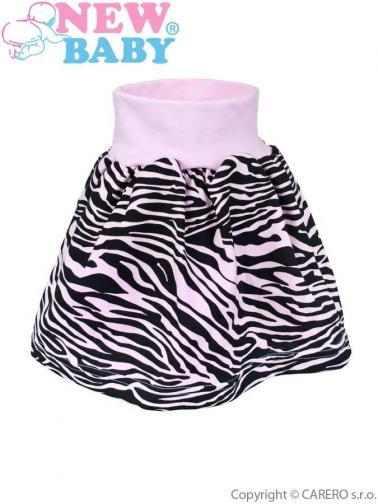 Dětská suknička New Baby Zebra růžová Růžová 98 (2-3r)