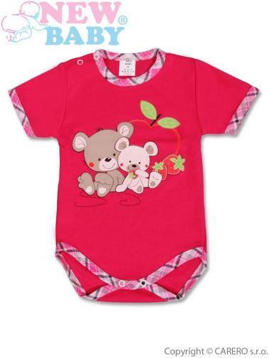 Dětské body s krátkým rukávem vel. 92 New Baby Myšky s jahůdkou