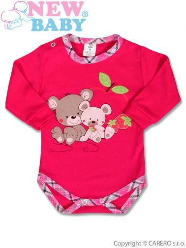 Dětské body s dlouhým rukávem vel. 86 New Baby Myšky s jahůdkou