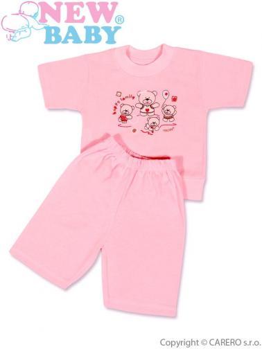 Růžové dětské letní pyžamo vel. 128 (7-8 let) New Baby růžové
