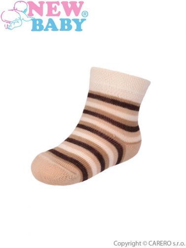 Kojenecké pruhované ponožky New Baby různé barvy Dle obrázku 62 (3-6m)