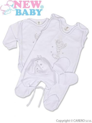 4-dílná soupravička vel. 68 New Baby andílek Bílá