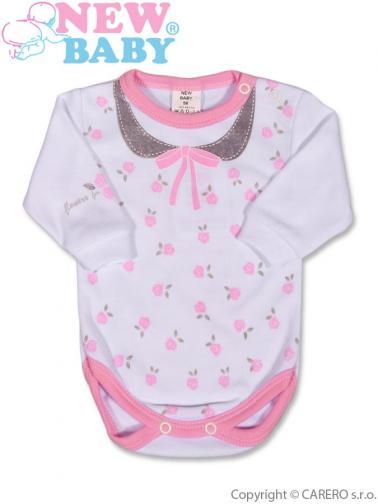 Kojenecké body s dlouhým rukávem vel. 56 New Baby Jeans růžové