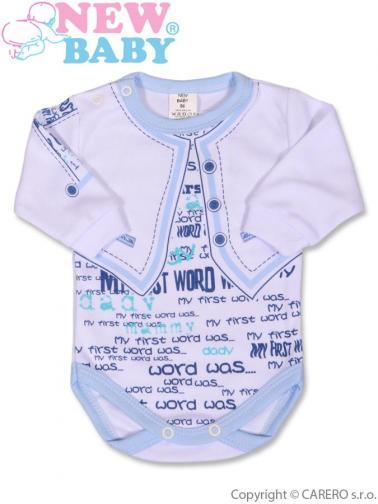 Kojenecké body s dlouhým rukávem vel. 56 New Baby Jeans modré