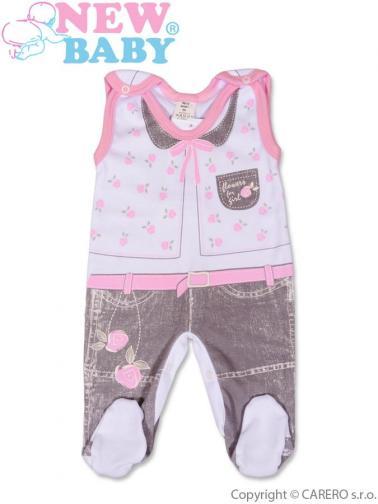 Kojenecké dupačky vel. 68 New Baby Jeans růžové