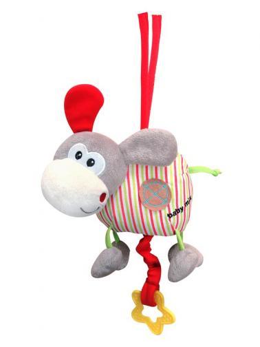 Dětská plyšová hračka s hracím strojkem Baby Mix oslík