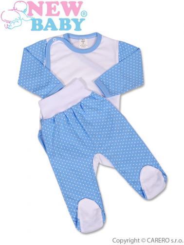 2-dílná souprava vel. 62 New Baby Puntík modrá