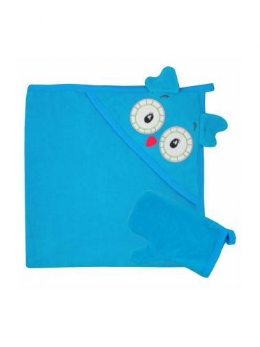 Dětská osuška s žínkou v krabičce Koala Tvoreček 100x90 cm tyrkysová Tyrkysová