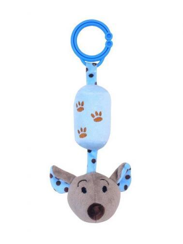 Dětská plyšová hračka s rolničkou Baby Mix myška modrá Modrá