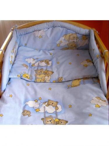 3-dílné ložní povlečení New Baby 90/120 cm Modré medvídci