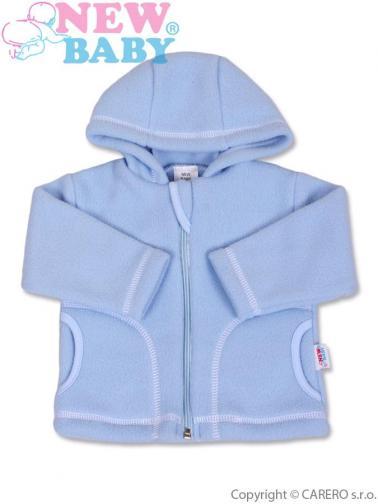 Modrý kojenecký fleecový kabátek vel. 74 New Baby Kubík