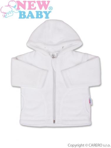 Bílý kojenecký fleecový kabátek vel. 74 New Baby Kubík