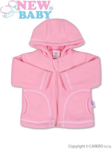 Růžový kojenecký fleecový kabátek vel. 80 New Baby Kubík