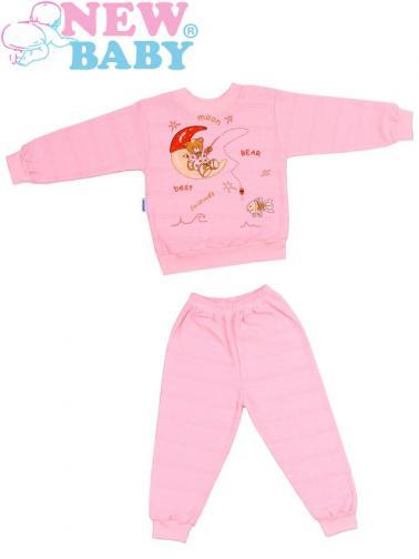 Dětské froté pyžamo vel. 98 New Baby růžové