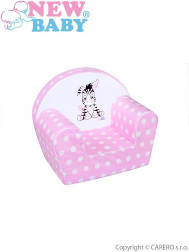 Dětské křeslo New Baby Zebra růžové Růžová