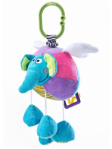 Edukační plyšová hračka Sensillo sloník s vibrací Modrá