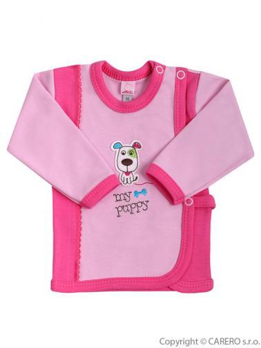 Kojenecká košilka vel. 62 Bobas Fashion Happy Balloon růžová