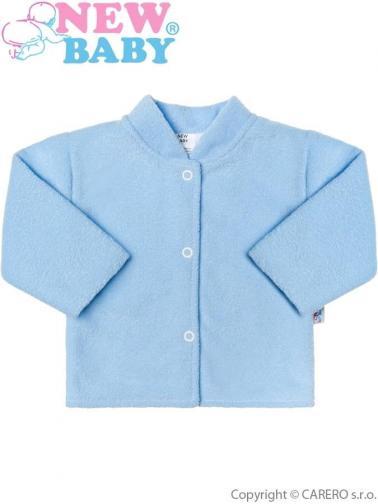Kojenecký froté kabátek New Baby modrý Modrá 74 (6-9m)