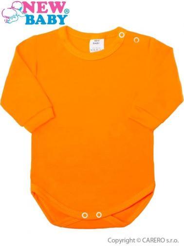 Kojenecké body s dlouhým rukávem New Baby oranžové Oranžová 62 (3-6m)
