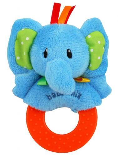 Dětské plyšové chrastítko Baby Mix slon