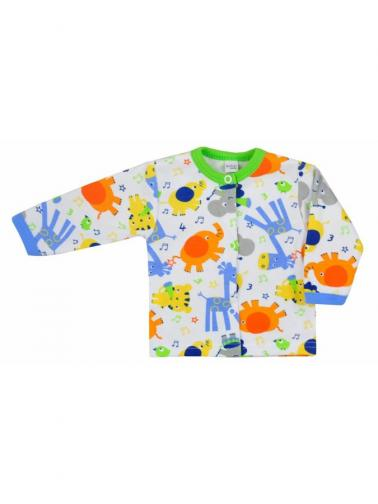 Kojenecký kabátek Bobas Fashion Zoo zelený pro kluky Zelená 74 (6-9m)