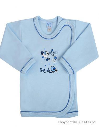 Kojenecká košilka vel. 56 Bobas Fashion Benjamin modrá