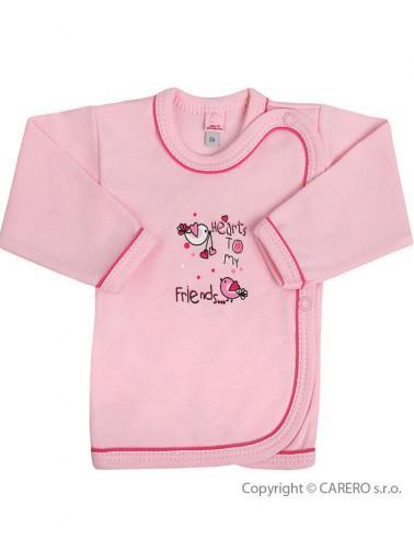 Kojenecká košilka vel. 56 Bobas Fashion Benjamin růžová