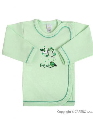 Kojenecká košilka vel. 62 Bobas Fashion Benjamin zelená
