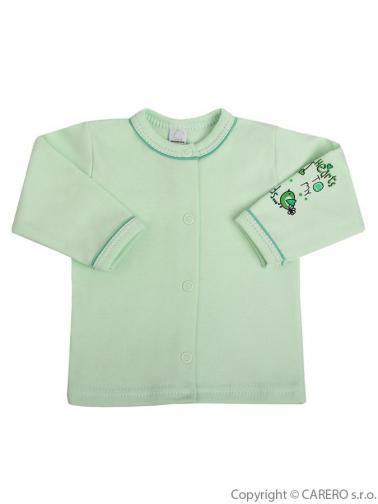 Kojenecký kabátek vel. 56 Bobas Fashion Benjamin zelený