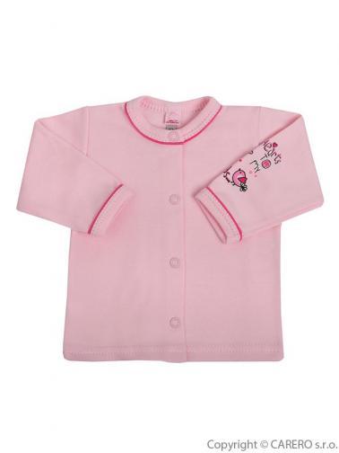 Kojenecký kabátek vel. 56 Bobas Fashion Benjamin růžový