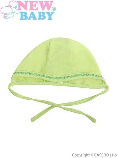 Kojenecká čepička vel. 56 New Baby zelená