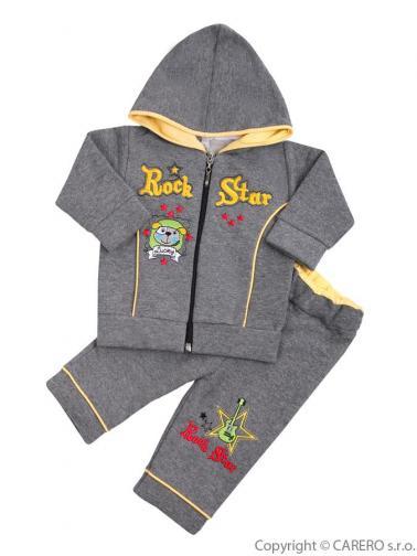 2-dílná souprava vel. 68 Koala RockStar šedo-žlutá