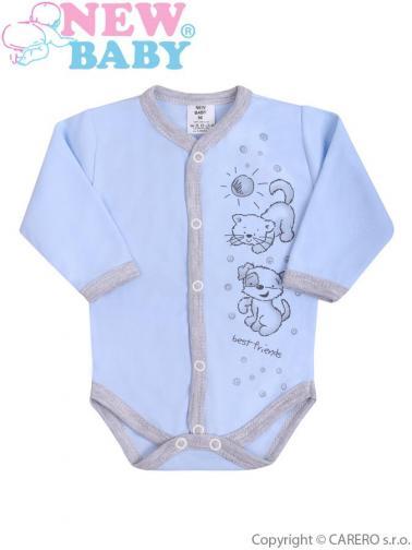Kojenecké body s dlouhým rukávem vel. 68 New Baby Kamarádi modré