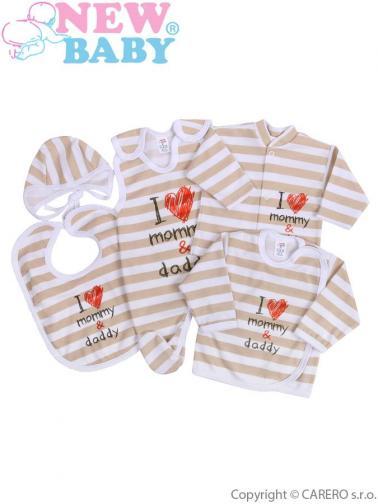 5-dílná kojenecká souprava vel. 62 New Baby Mommy and daddy