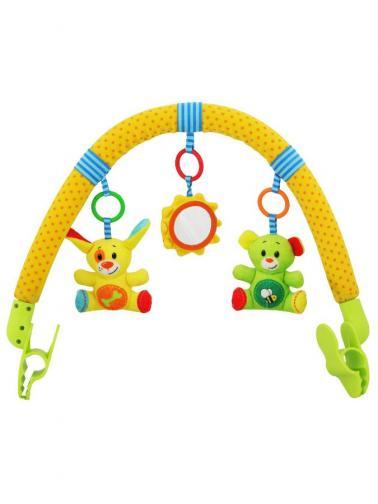 Hračka na kočárek Baby Mix sluníčko, myška, pejsek Dle obrázku