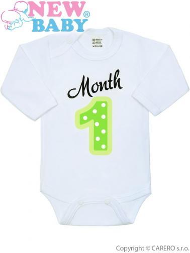 Body s potiskem New Baby Month 1 Zelená 50