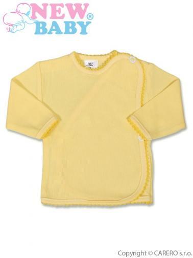 Kojenecká košilka proužkovaná vel. 62 New Baby žlutá