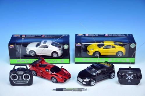 Auto RC Racing Style plast 17cm na vysílačku na baterie asst 6 druhů