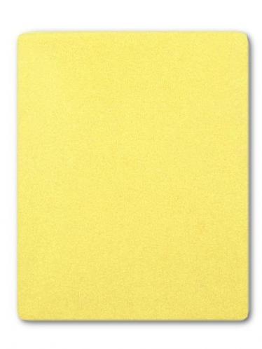 Žluté froté prostěradlo do postýlky