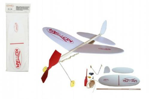 Letadlo Komár model pěna 39x31cm