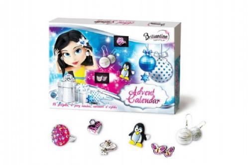 Adventní kalendář Briliantina - 18 prstýnků, 4 páry náušnic, náramek a ozdoba